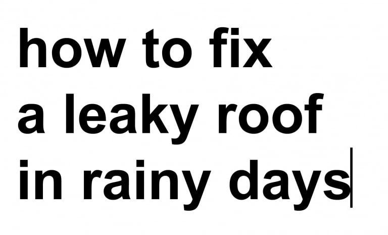 THAITAI FEVER - STAGE 3 | how to fix a leaky roof in rainy days
